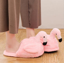 Load image into Gallery viewer, Super Soft Flamingo Slippers
