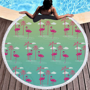 Flamingo Beach Mat