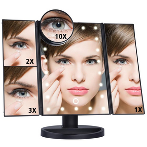 LED Touch Screen Magnification Mirror