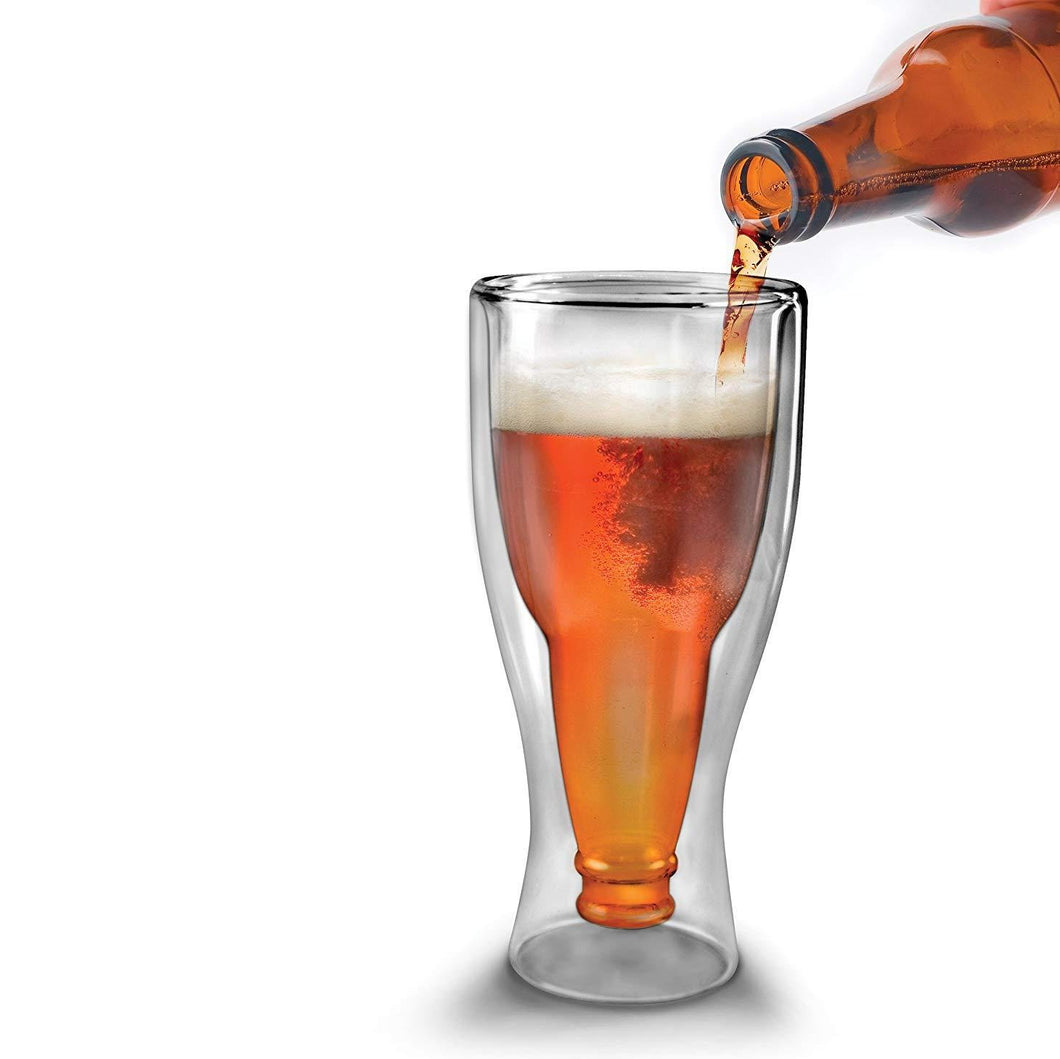 Inverted Beer Bottle Glass