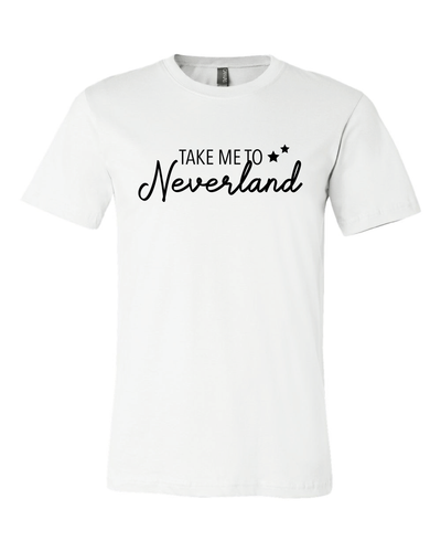Take Me To Neverland Unisex Cotton Tee