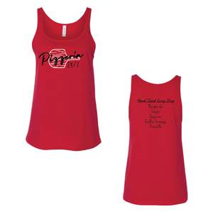 24 Hour Pizzeria Women's Relaxed Jersey Tank