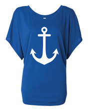 Load image into Gallery viewer, Women's Flowy Anchor Dolman Tee