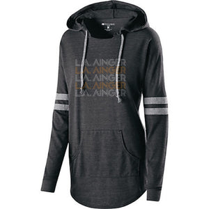 LADIES L.A. AINGER HOODED LOW KEY PULLOVER