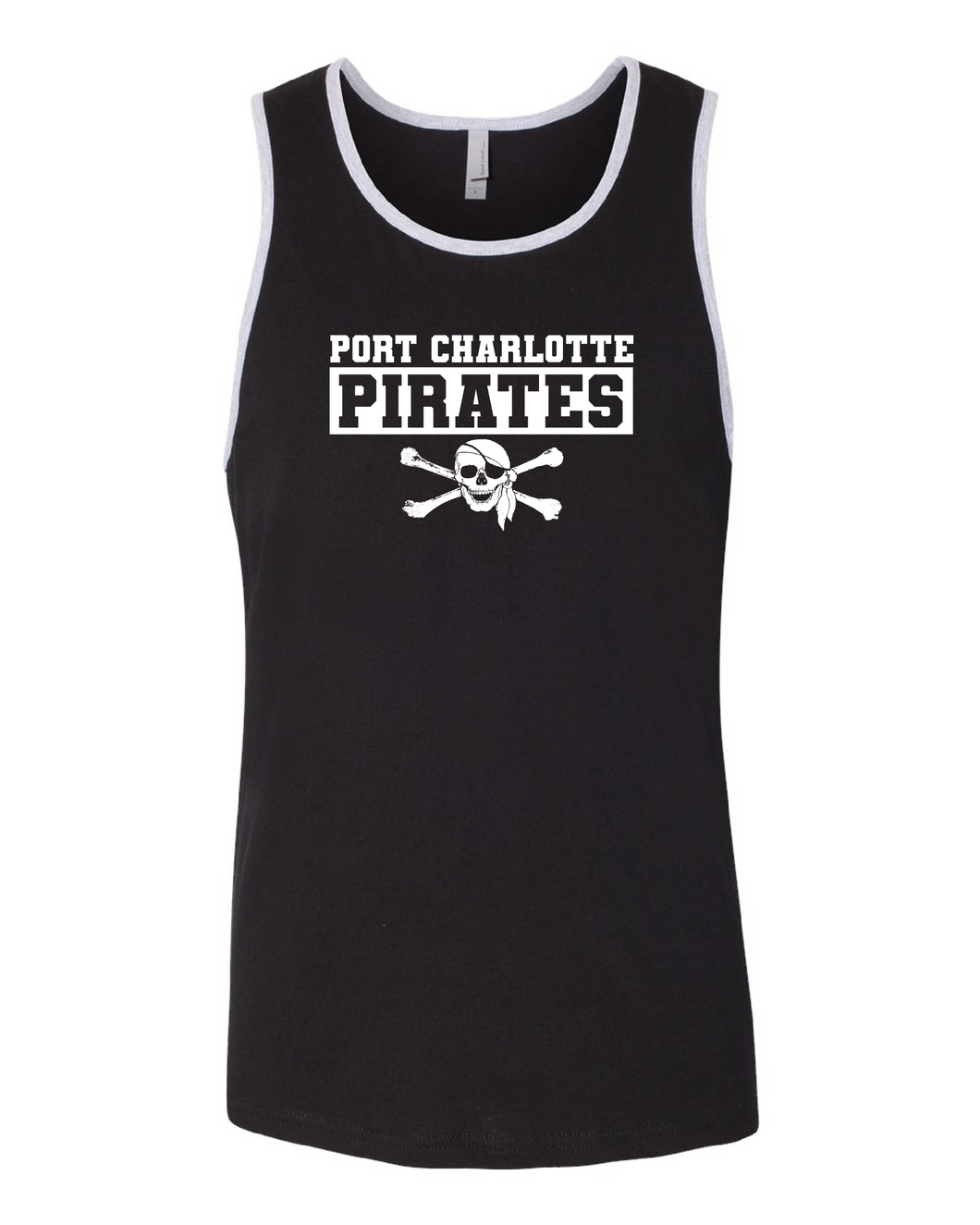 BLACK AND GREY PIRATES TANK