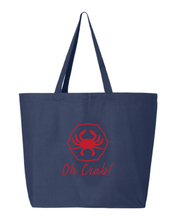 Load image into Gallery viewer, Oh Crab! Jumbo Tote Bag