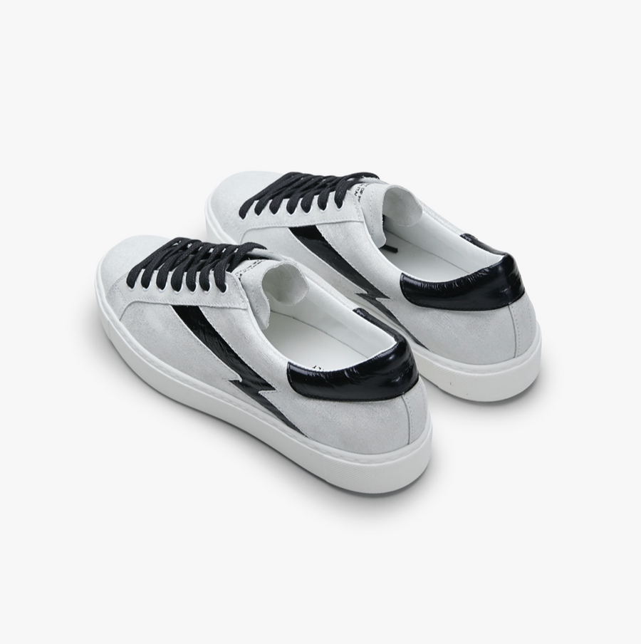 RACER - Metallic White / Black