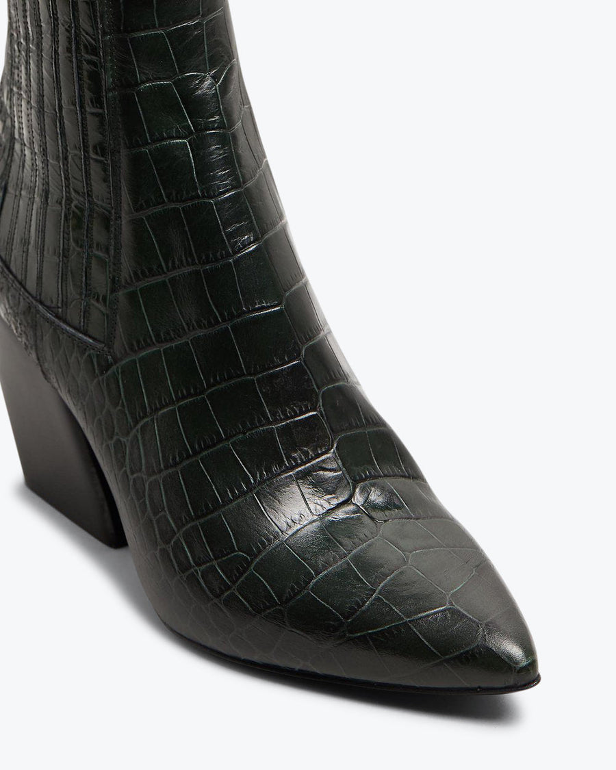 ASTRID - Black Croc Leather
