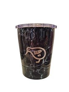 Black Marble Stainless Steel Reusable Cup 8oz NZ