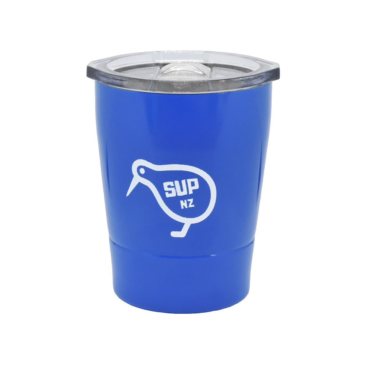 8oz stainless steel reusable cup blue