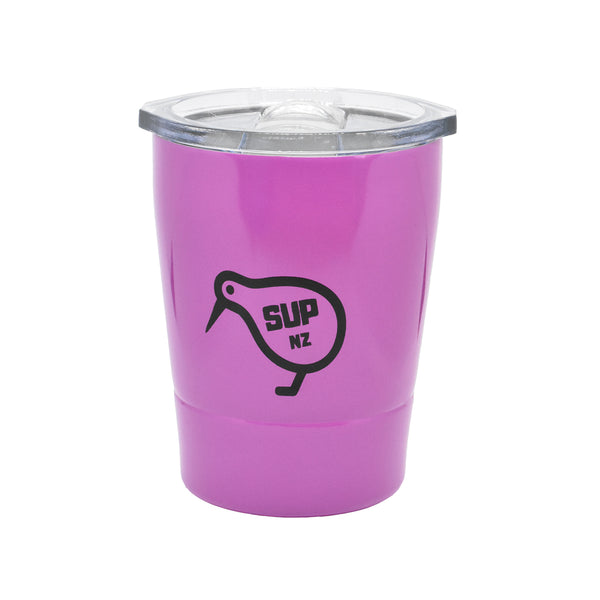 8oz Stainless Steel reusable cup magenta purple