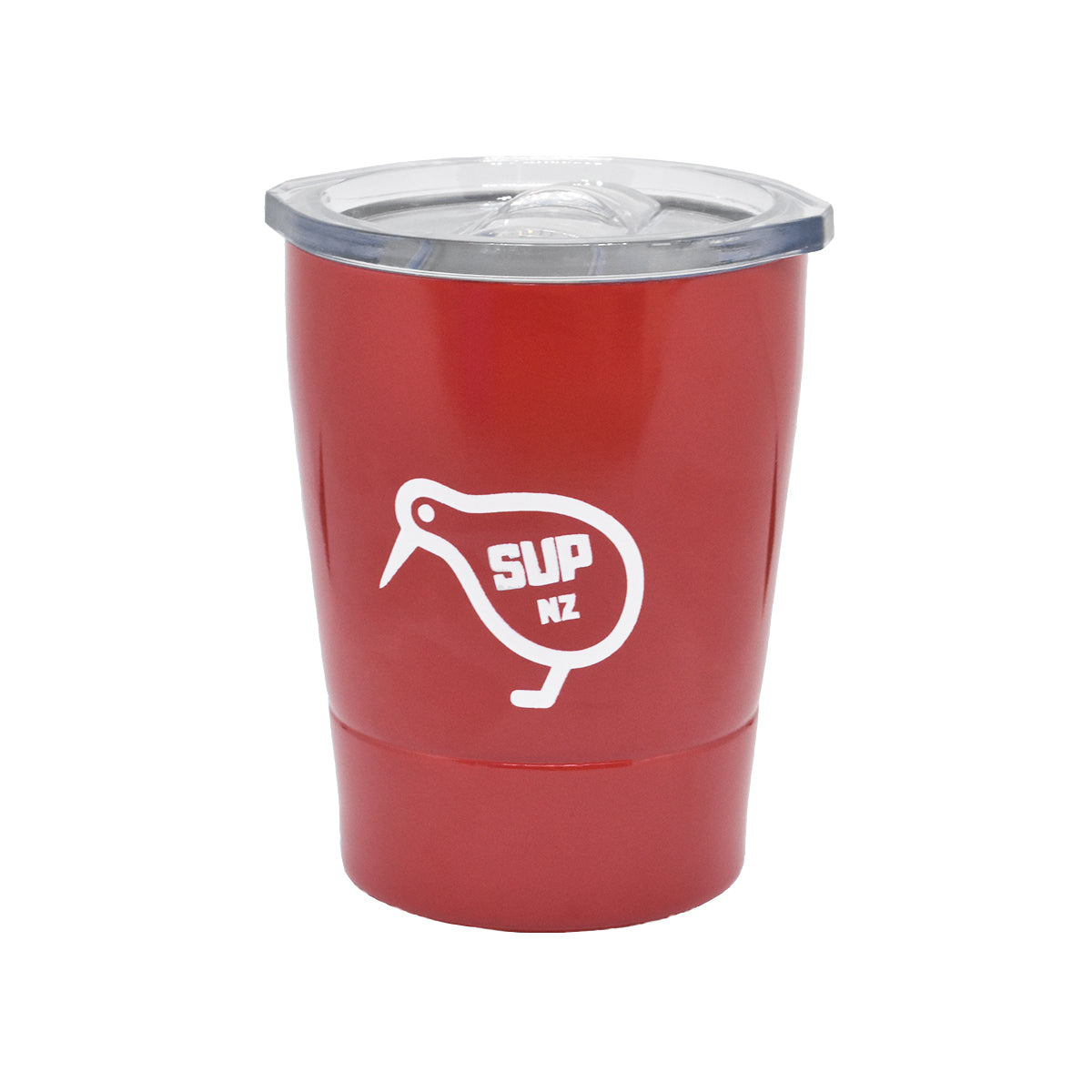8oz stainless steel reusable cup red