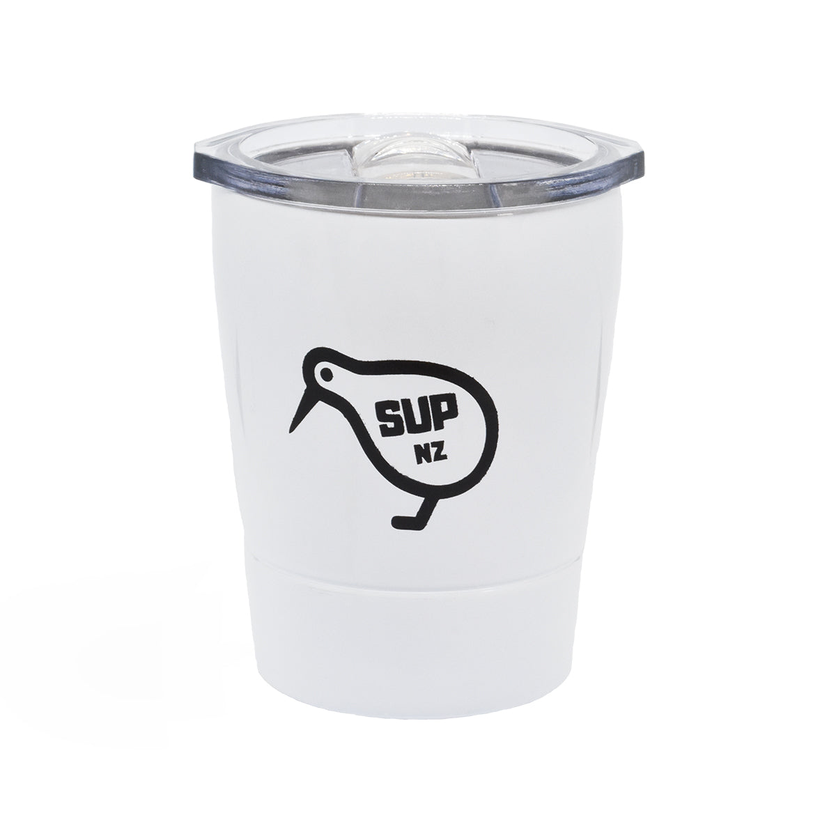 8oz stainless steel reusable cup white