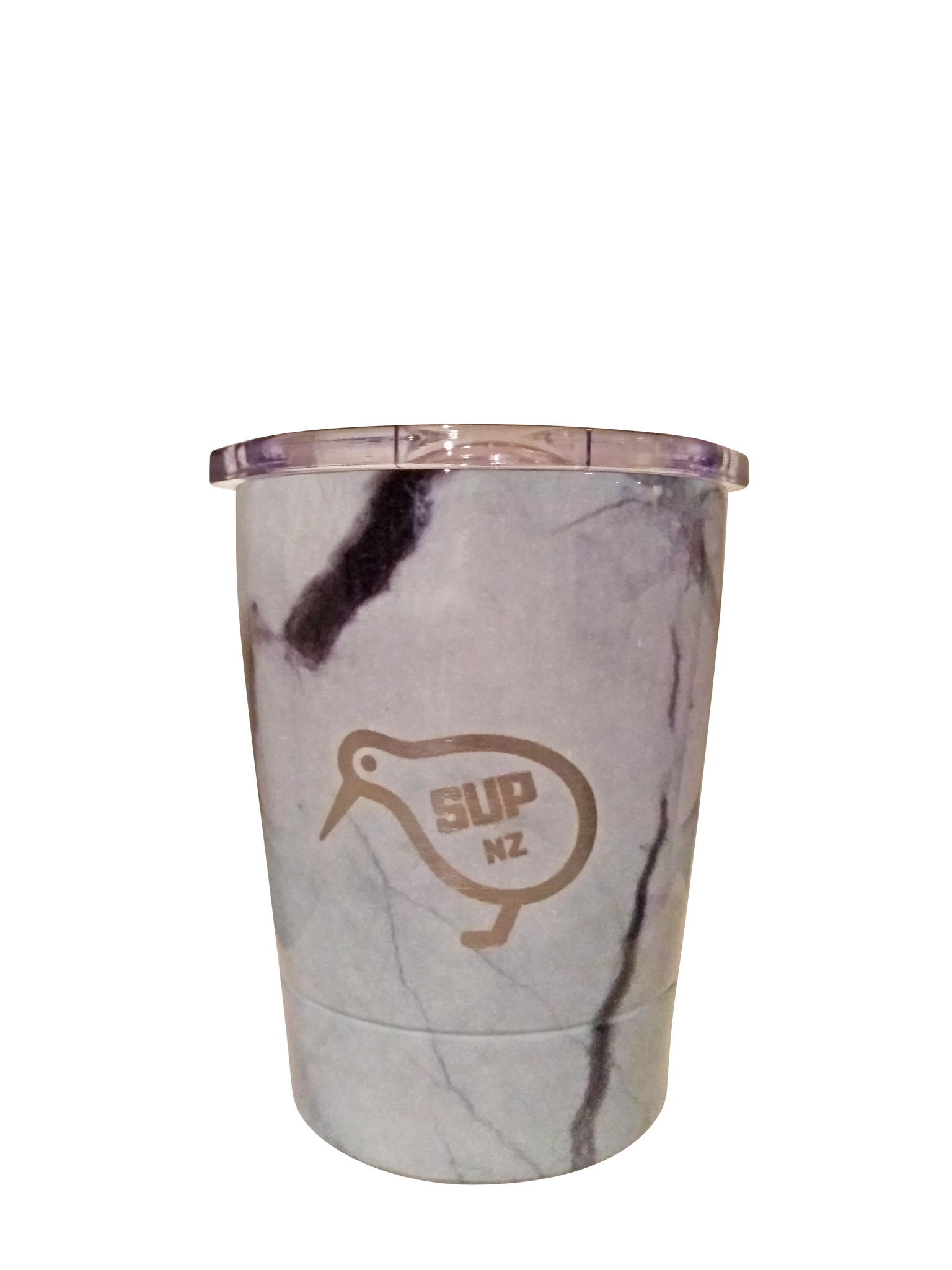 White Marble 8oz Stainless Steel Reusable Cup SUP NZ