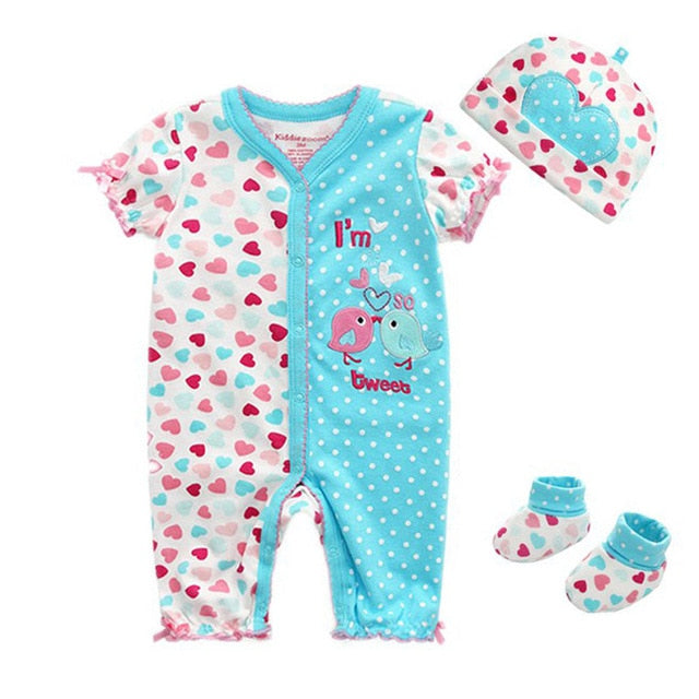 213dbae32 Newborn Baby Girl Clothes Cartoon Baby Rompers O-neck Baby Romper ...