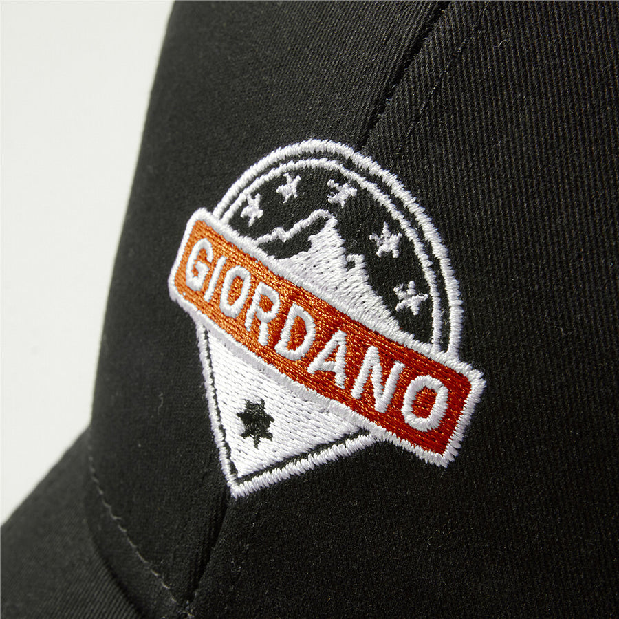 Giordano Embroidered Lion Cap - Blacl