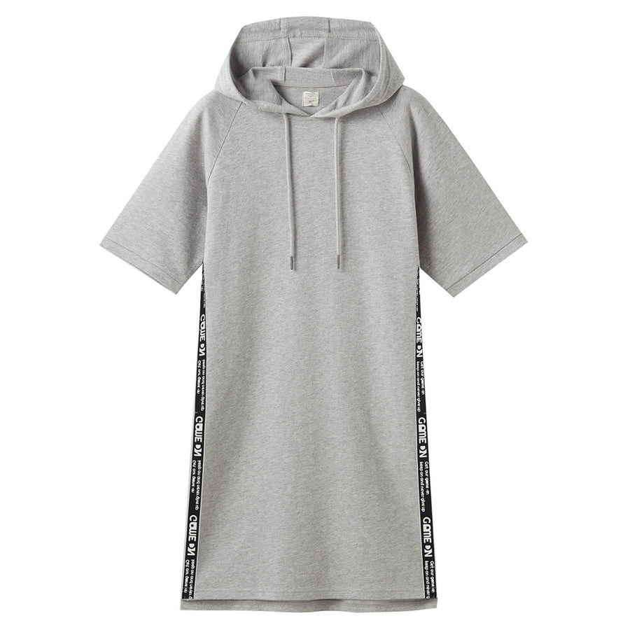 Giordano Women Strap Short-Sleeve Hooded Dress - Mid Heather Grey