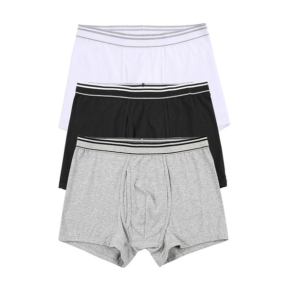 3 Pack Boxer Brief - Black+Grey+White