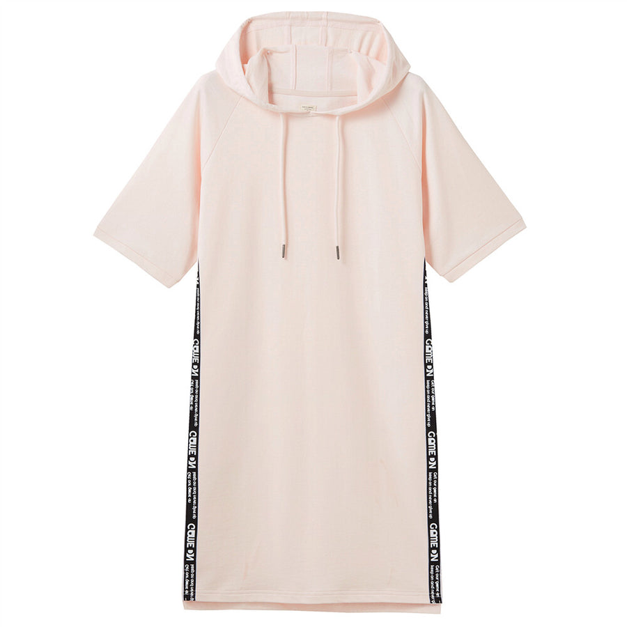 Giordano Women Strap Short-Sleeve Hooded Dress - Rosewater Pink