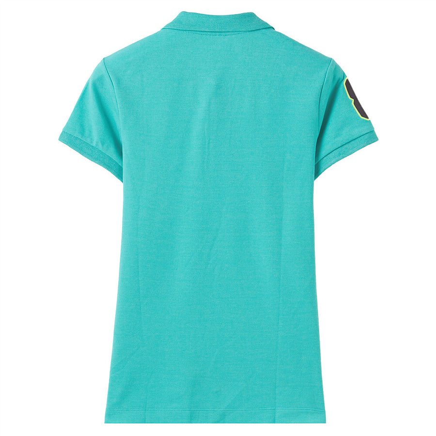 Giordano Women 3D Lion Polo 53 Melange Pool Green x Emb.Sakura