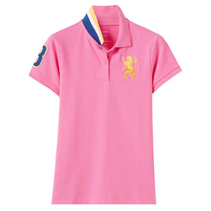 Giordano Women 3D Lion Polo 70 Pink