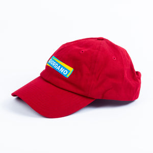 Giordano Embroidered Logo Cap - Biking Red