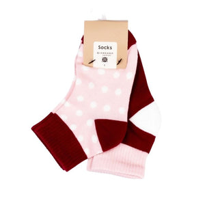 2 Pairs Socks - Red & Pink