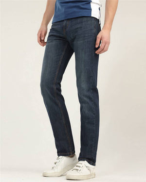 Mid-Rise Tapered Jeans