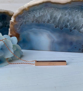Rose Gold Necklace, Accessari, Khayr, Luxury Necklace, Khayr Pendant, Rose Gold Chain, Khair, Necklace, khayr necklace