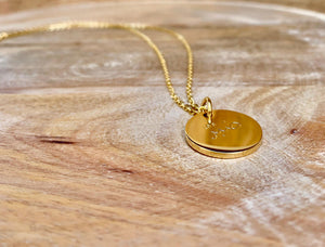 Sabr Necklace, Gold Necklace, Islamic Jewelry, Muslim Jewelry, Sabr Pendant, Sabr Chain, Patience Necklace, Accessari, Gold Necklace, Sabr pendant