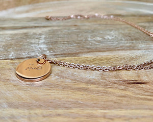 Sabr Necklace, Rose Gold Necklace, Islamic Jewelry, Muslim Jewelry, Sabr Pendant, Sabr Chain, Patience Necklace, Accessari, Rose Gold Necklace, sabr pendant