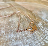Sabr Necklace, Rose Gold Necklace, Islamic Jewelry, Muslim Jewelry, Sabr Pendant, Sabr Chain, Patience Necklace, Accessari, Rose Gold Necklace