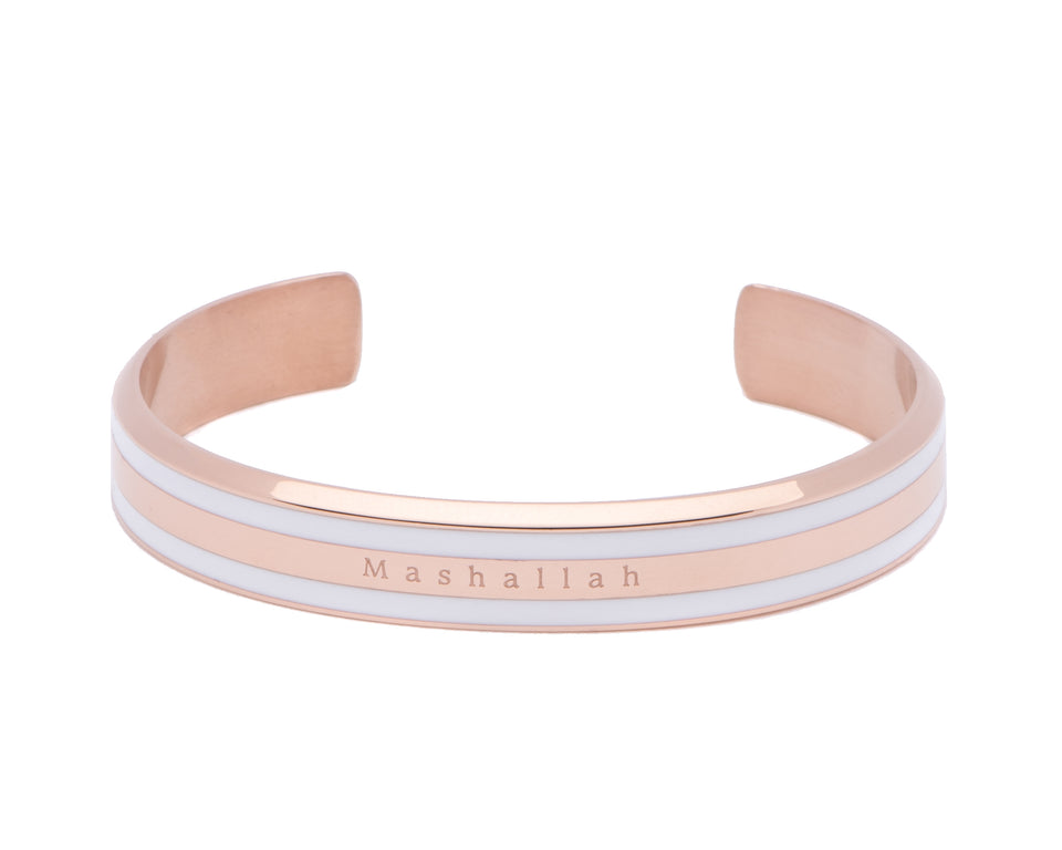 Accessari, Muslim Jewelry, Mashallah Bangle, Mashallah Bangle, Mashallah Bracelet, Rose Gold Bangle, Luxury Jewelry, Classic Cuff