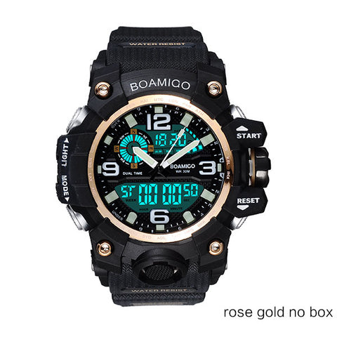 Men Sports Watch with Digital LED Display