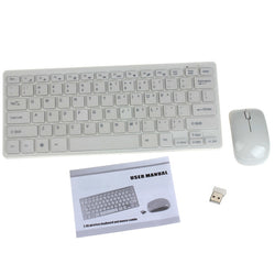 Multimedia Mini Wireless Keyboard and Optical Mouse Combo