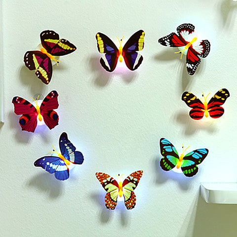 Butterfly Night Lamp with Colorful Light