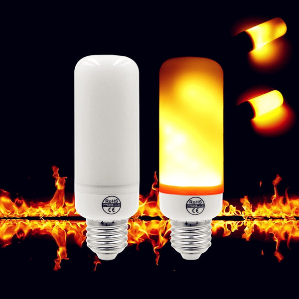 Flame Effect Fire Light Bulb - 7W 9W Creative 3 modes+Gravity Sensor