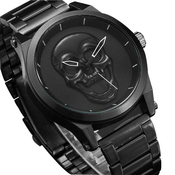 Skull Men Watch Luxury Punk - Waterproof