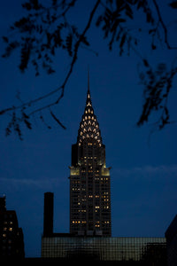 Chrysler Building om aftenen