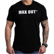 MAX OUT Gray On Black Tee (Men's)
