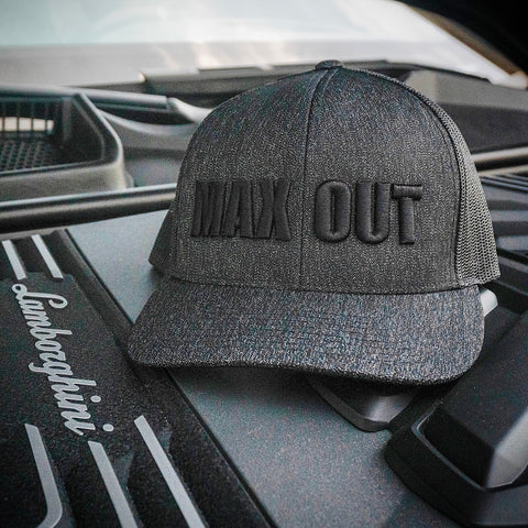 MAX OUT Trucker Hat Black on Black