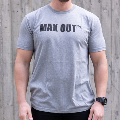 MAX OUT Black on Grey Tee (Men's)