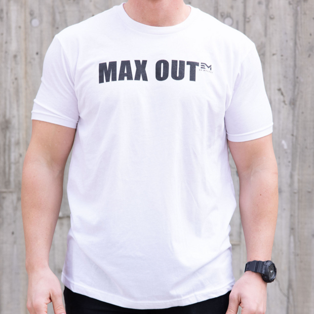 MAX OUT Black on White Tee (Men's)