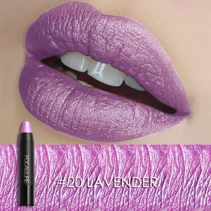 Metallic Lips Crayon  | Human Hair Wigs & Focallure | Klex Beauty