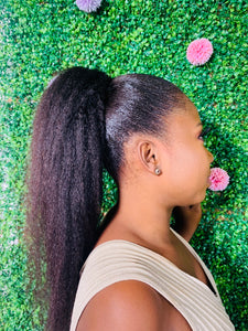Kinky Blowout Ponytail  | Human Hair Wigs & Focallure | Klex Beauty