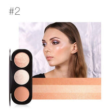 Load image into Gallery viewer, Blush and Highlighter Palette | Human Hair Wigs & Focallure | Klex Beauty