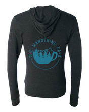 Load image into Gallery viewer, The Wandering Cafe Lightweight Zip Hoodie