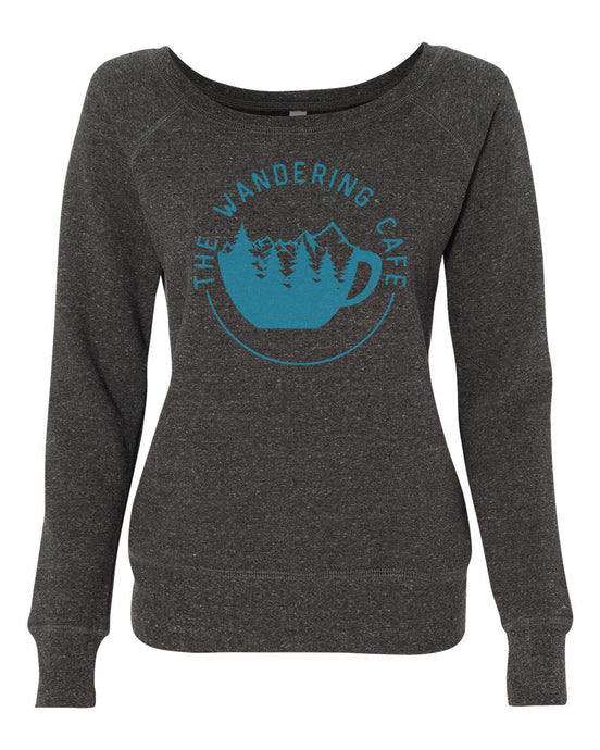 The Wandering Cafe Wide Neck Sweatshirt