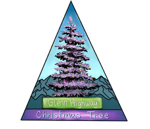 GLENN HIGHWAY CHRISTMAS TREE YOUTH T-SHIRT