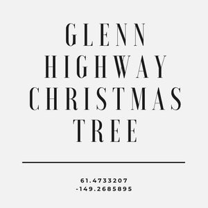 GLENN HIGHWAY CHRISTMAS TREE BLACK CAMO HOODIE